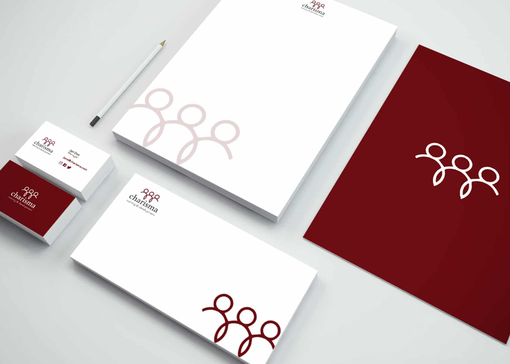 charisma, training brand identity, workshop branding, development branding