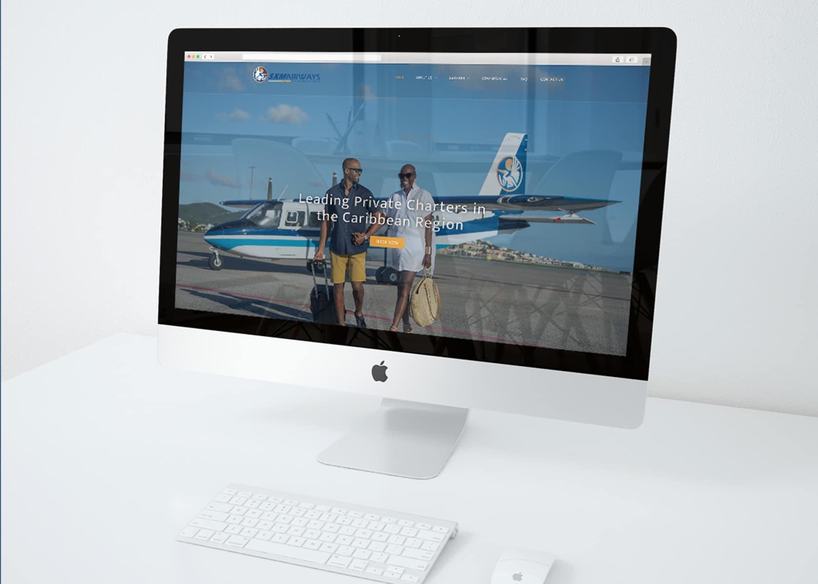 Sxm airways, airline branding, brand identity, plane branding