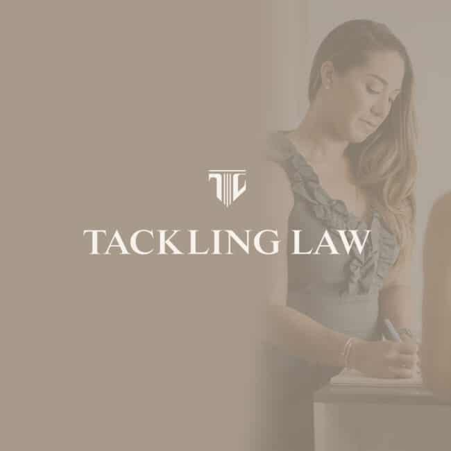 tackling law, law firm branding, brand identity lawyer