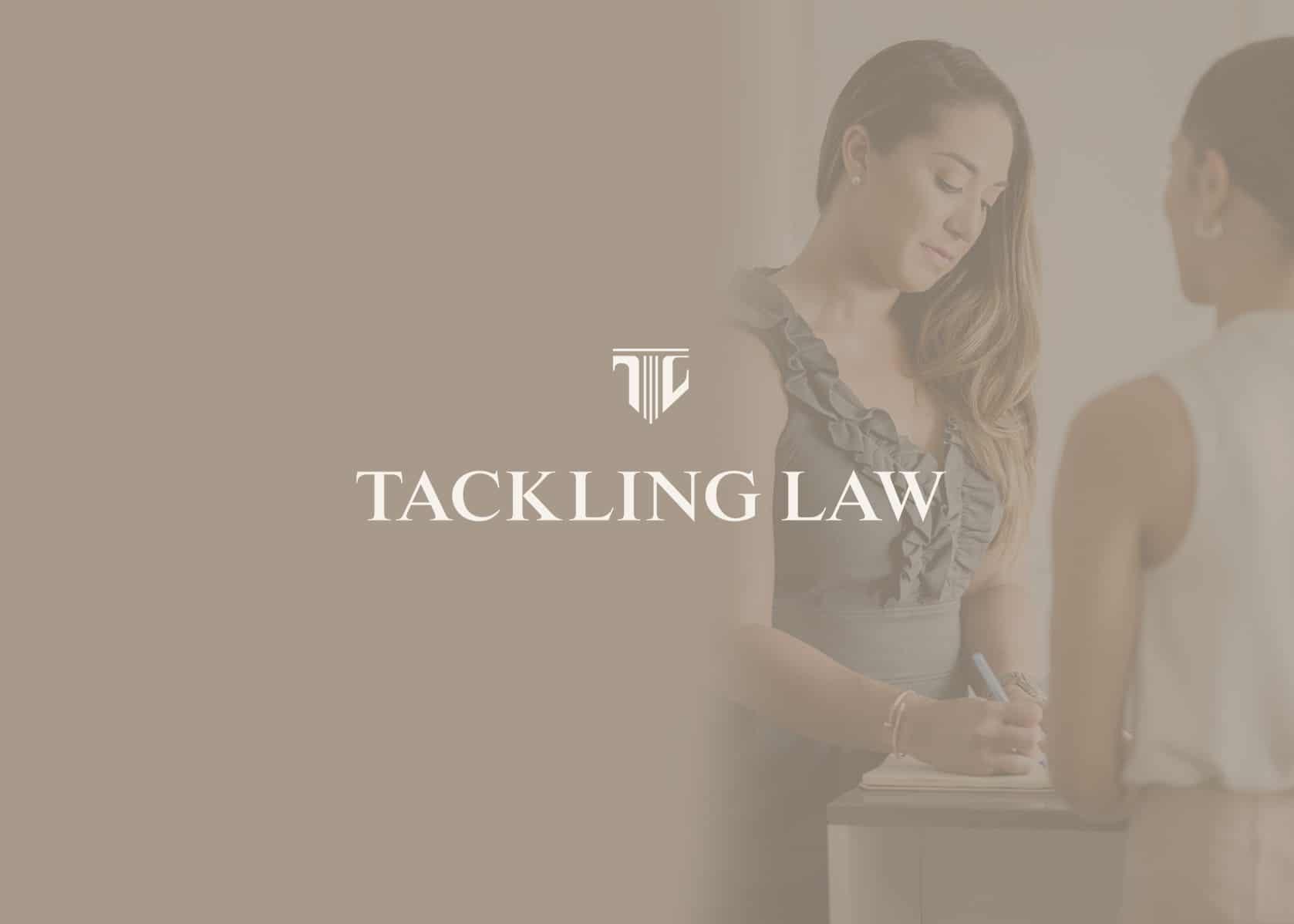 tackling law, law firm branding, brand identity lawyer